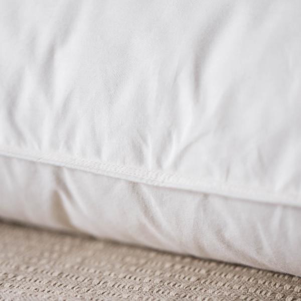 feather core pillow to provide support