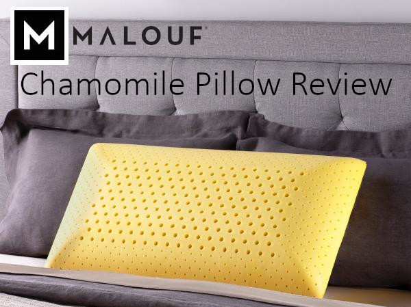 malouf chamomile zoned active dough pillow review