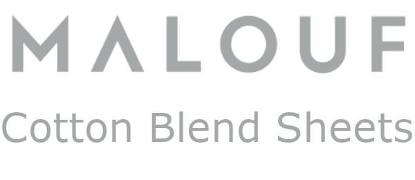 malouf cotton blend sheets logo