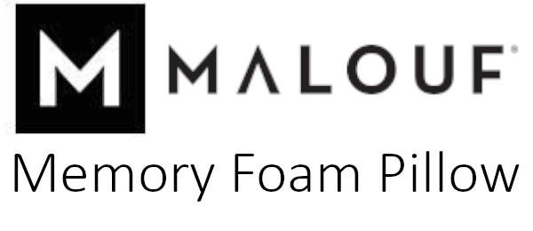 malouf memory foam pillow review