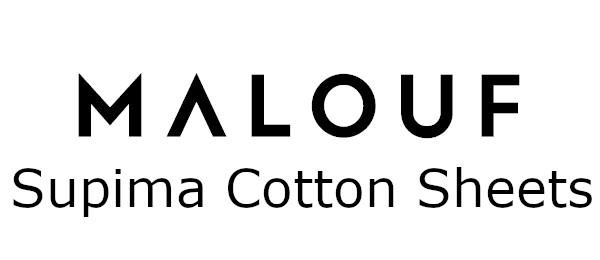 malouf supima cotton sheets logo