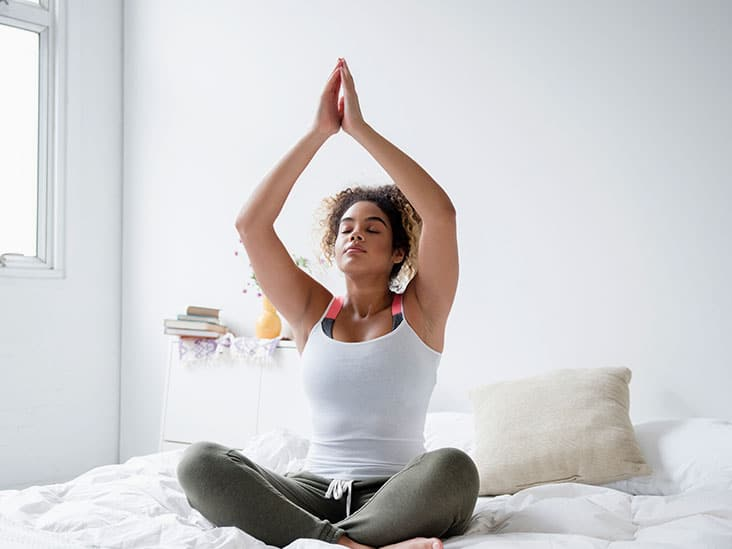 yoga in the morning to ease into your morning