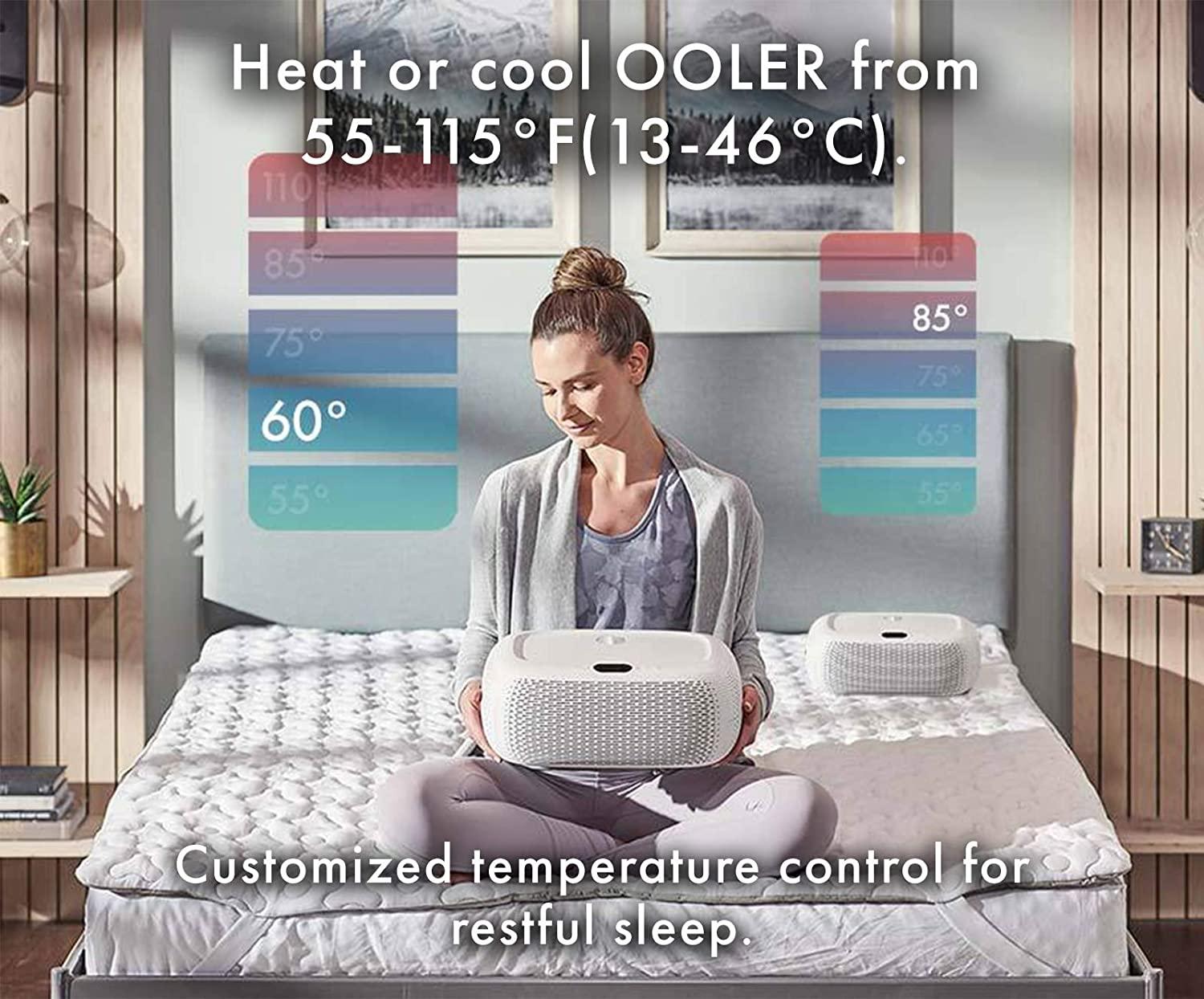 cooling and heating pads for blankets