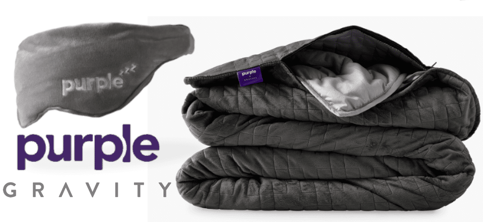 purple weighted blanket eye mask gifts