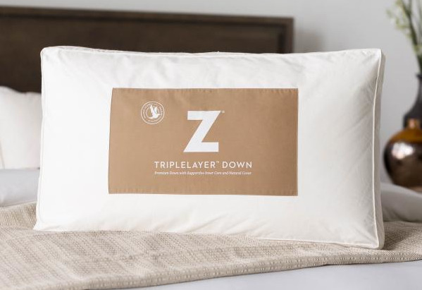 z pillow down and feathers blend comfort