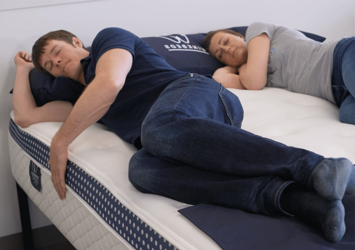 sleeping on a winkbed mattress
