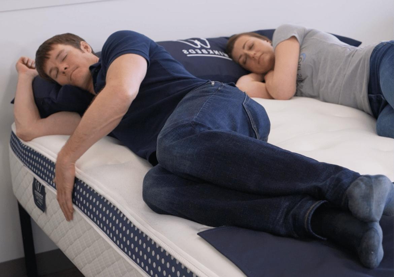 sleeping on a winkbed mattress