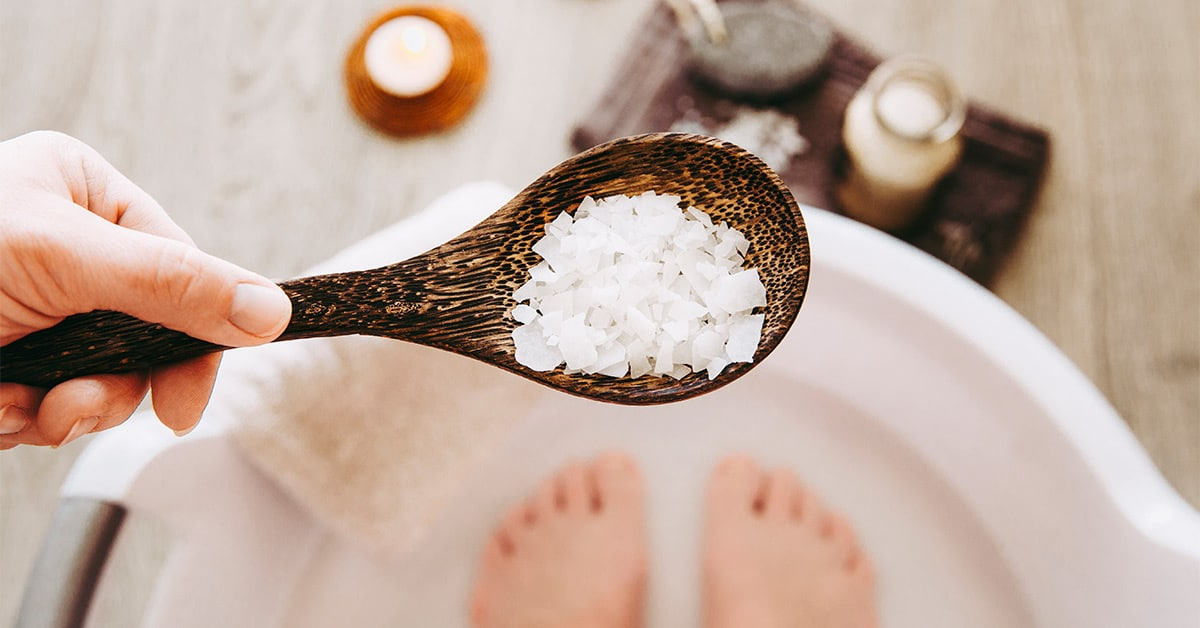 epsom salts have magnesium which relaxes stiff muscles