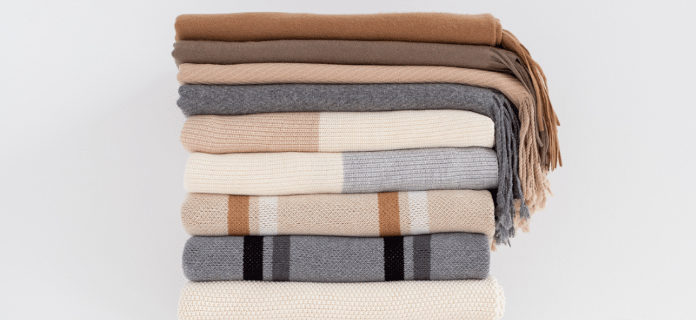 wool and cashmere blankets for cold sleepers