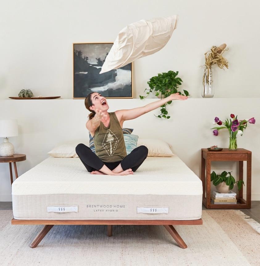 brentwood home latex hybrid mattress