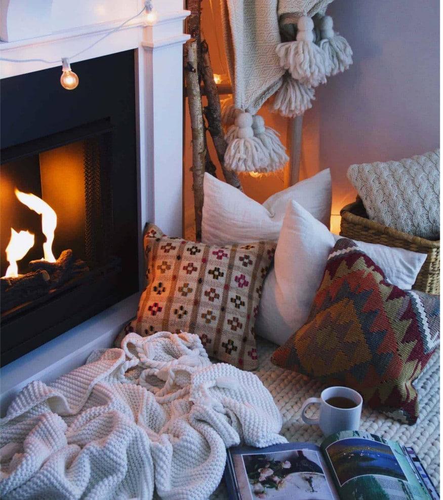 cozy warm bedroom