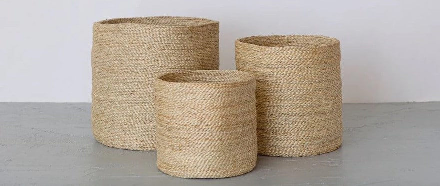 jute baskets for your room