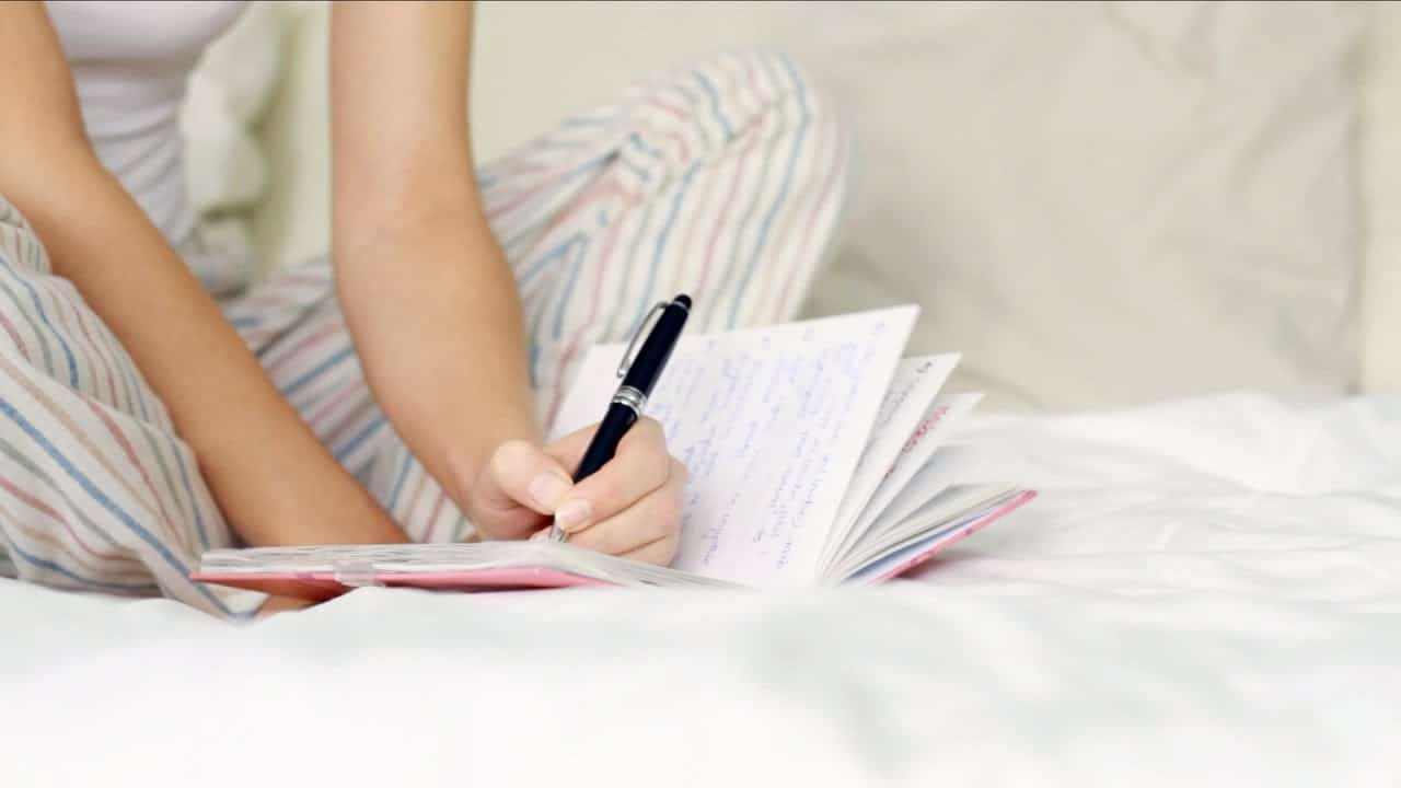 write down your thoughts so you can go back to sleep