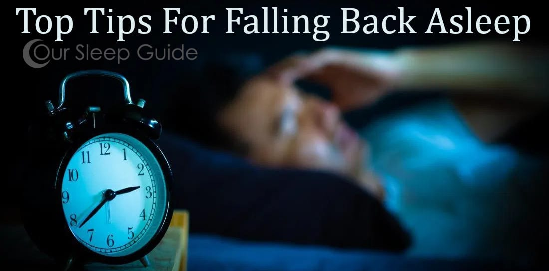 top tips for falling back asleep from our sleep guide