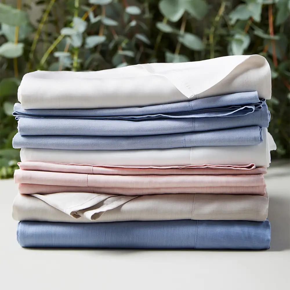 soft bedding colors strips eucalyptus