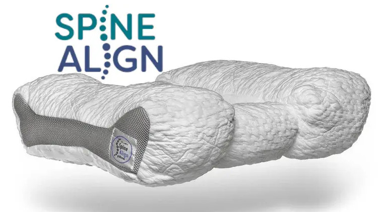 a pillow that keeps your spine in alignement