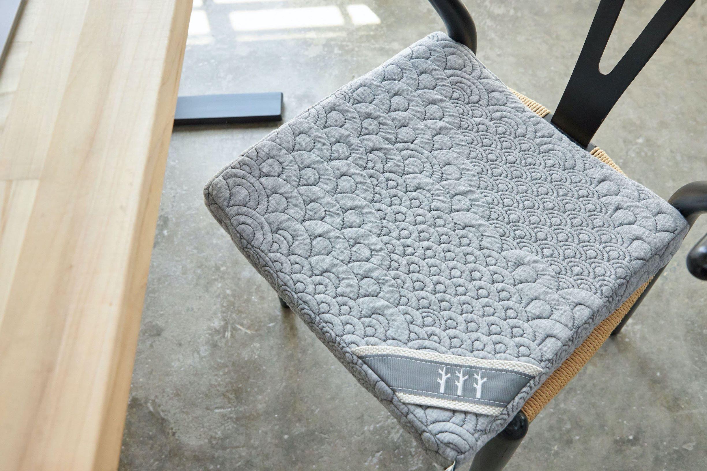 charcoal memory foam seat cushion