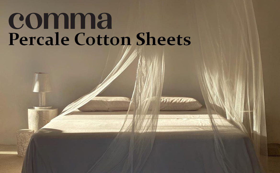 comma percale cotton sheets review