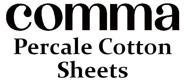 comma percale cotton sheets