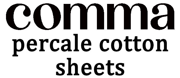 comma percale cotton sheets review logo