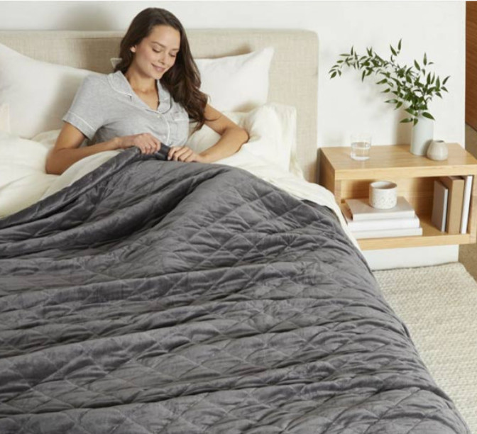 grey or cream weighted blankets