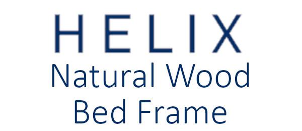 Helix Natural Wood Bed Frame