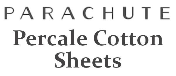 parachute percale sheets logo