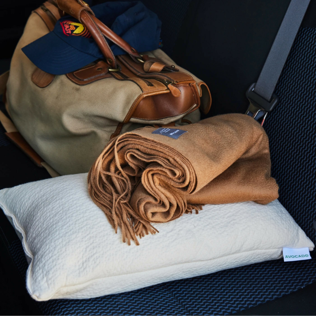avocado mini pillow perfect for travel