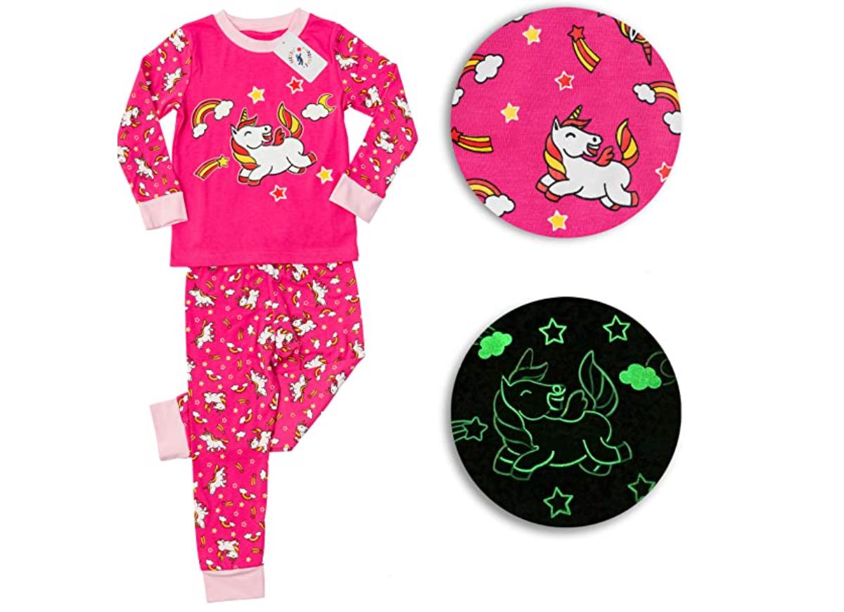 glow in the dark pajamas for kids