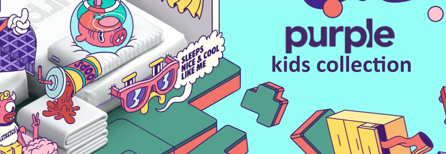purple bed collection for kids