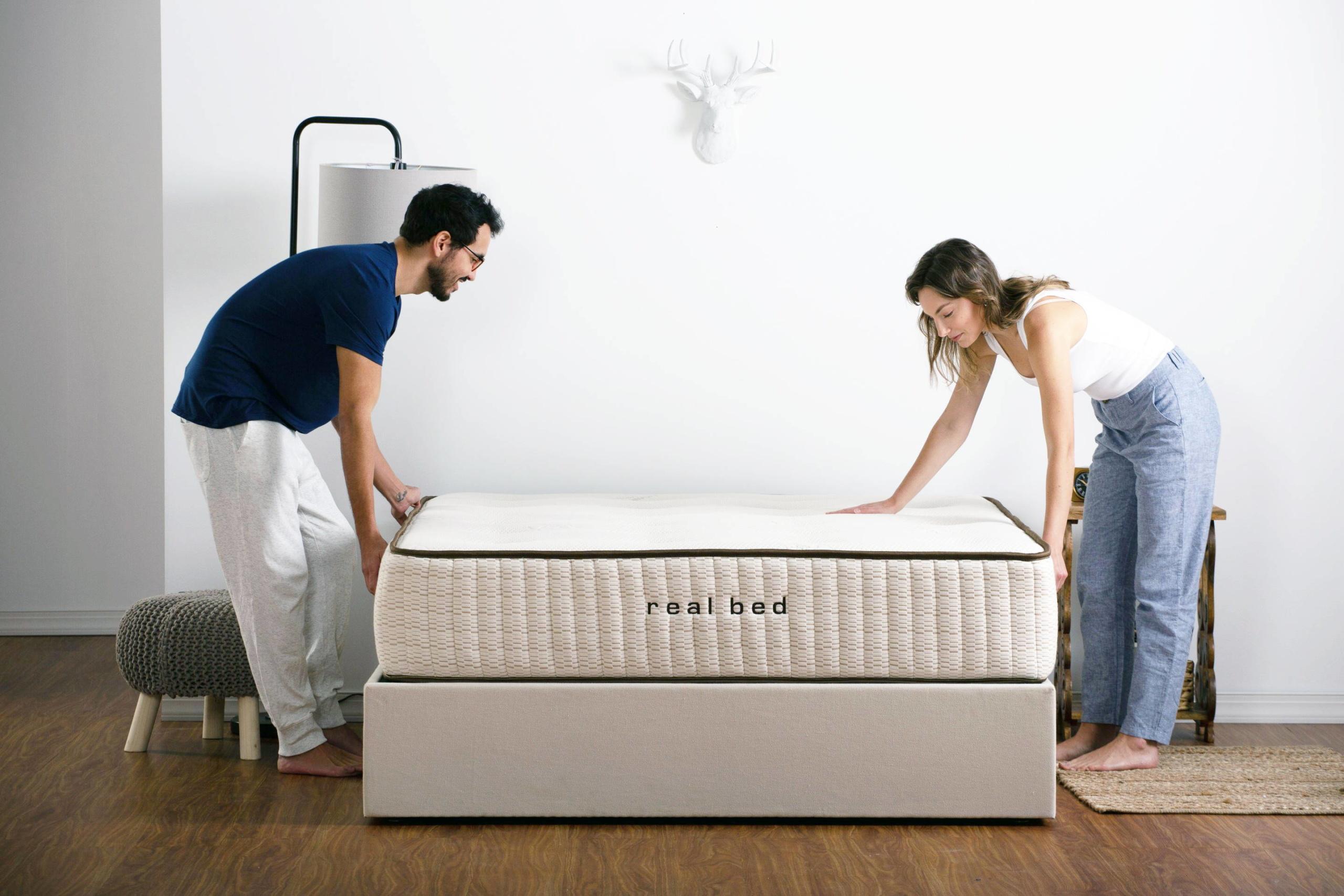 real bed mattress set up
