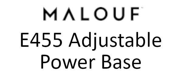 e455 malouf adjustable base logo