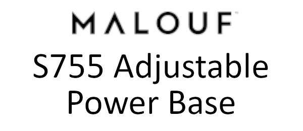 malouf s755 adjustable power base logo