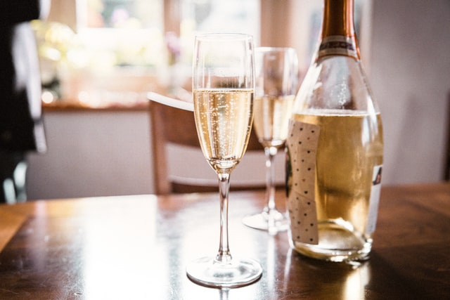 treat yourself to a glass of champagne and enjoy your time together