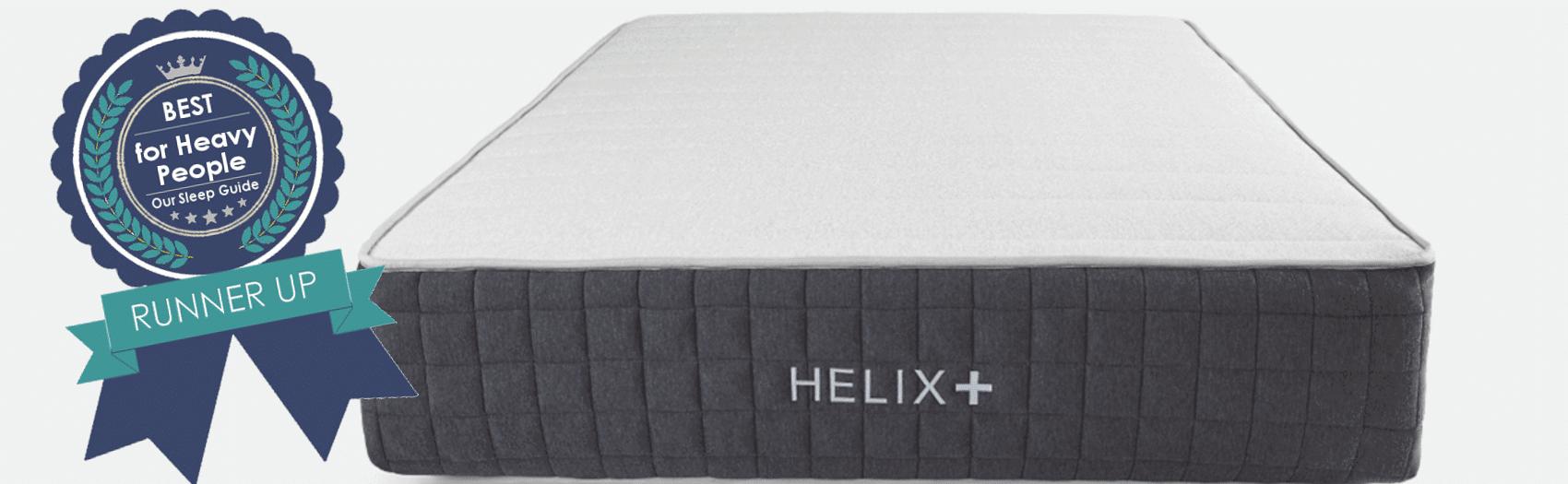 helix plus best mattress for big people