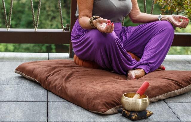 yoga and meditation before going to sleep