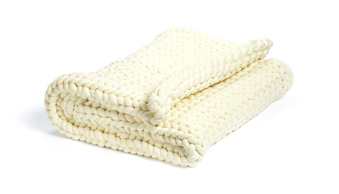 extra weighted blanket in ivory