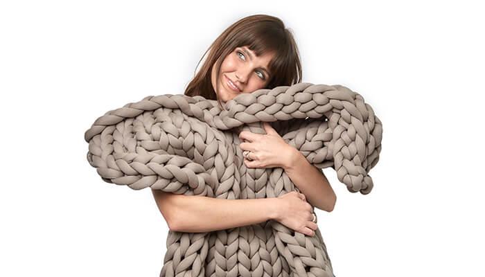 yaasa knit weighted blanket