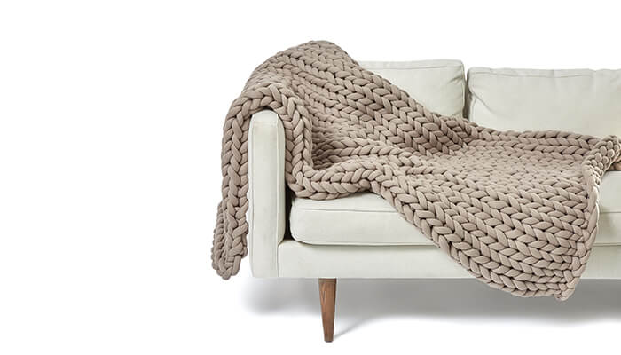 gorgeous knit weighted blanket