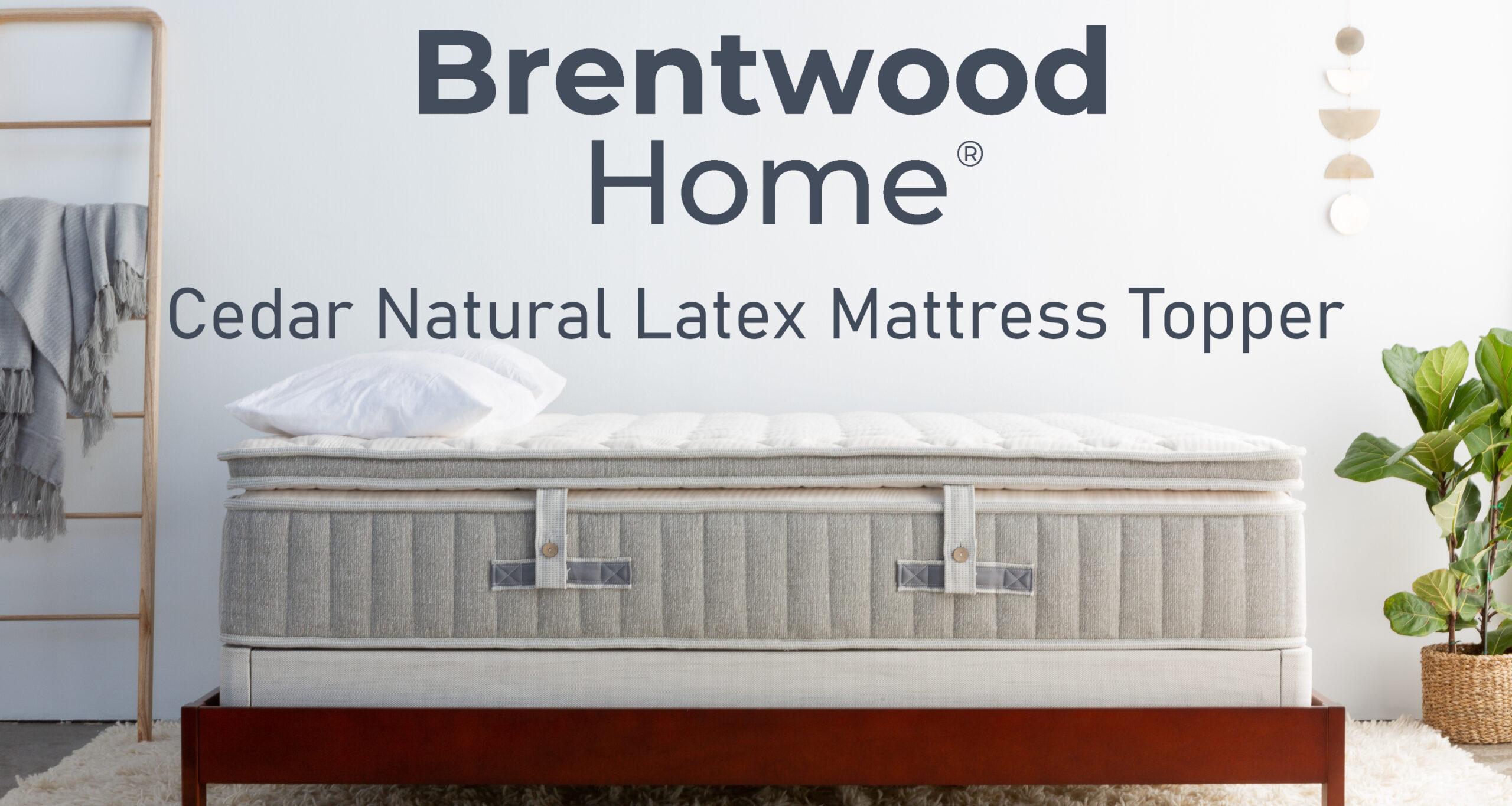 brentwood home cedar natural latex mattress topper review