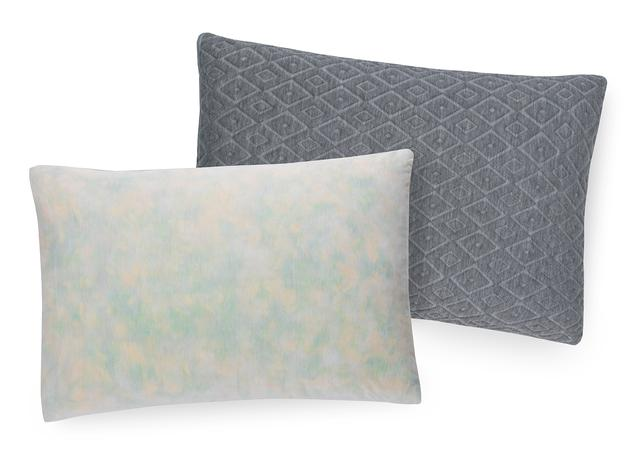 shredded foam pillow charcoal cover