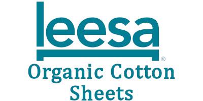 organic cotton sheets logo leesa